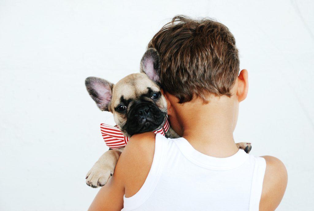 Un petit garçon et son chien